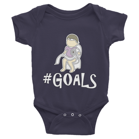 The #GOALS Baby Girl Onesie - Soft Cotton One-Piece - TeeScience - 1