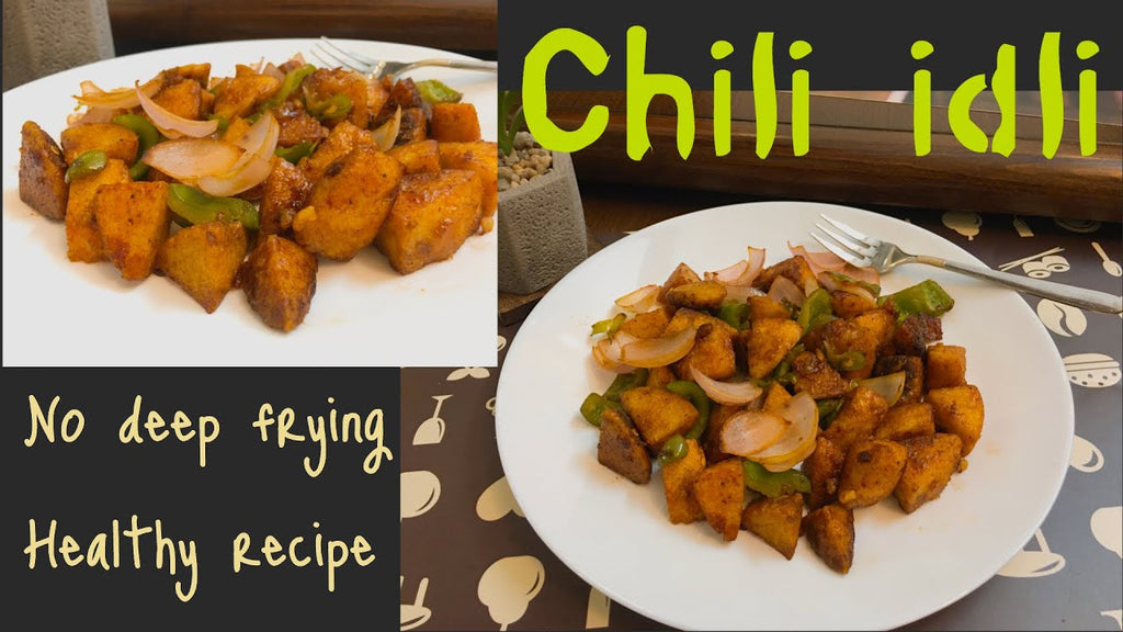 Chili idli easy and healthy recipe @healthycookingwithsakshi