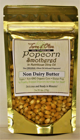 Naturally Non Dairy Olive Oil Butter Flavor Infused Popcorn Kernel Pour N Pop
