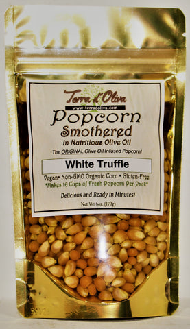 White Truffle olive oil Infused Popcorn