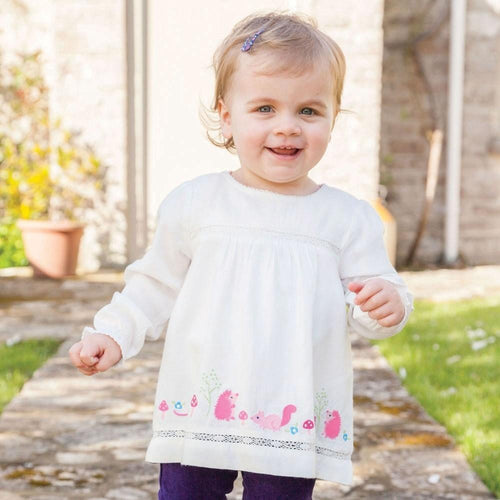 JoJo Maman Bebe Embroidered Blouse Cream