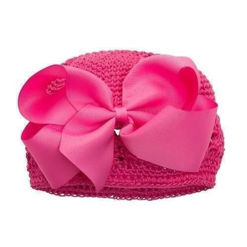 Elegant Baby Crochet Bow Hat-Elegant Baby-Sweet as Sugar Children's Boutique