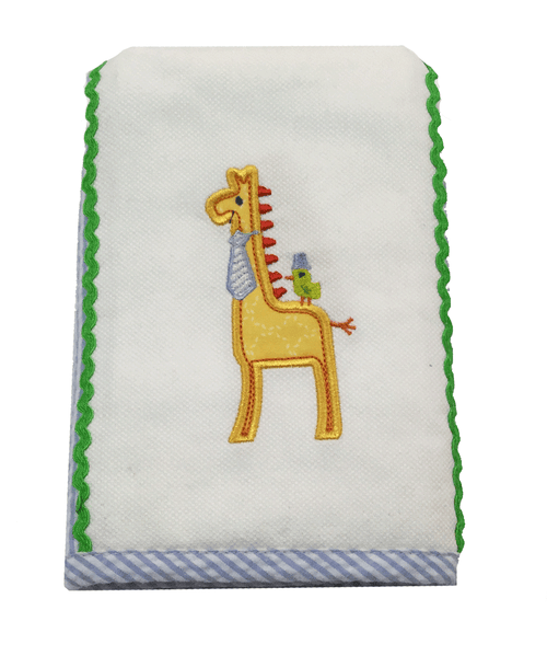 Elegant Baby Giraffe Burp Cloth-Elegant Baby-Sweet as Sugar Children's Boutique