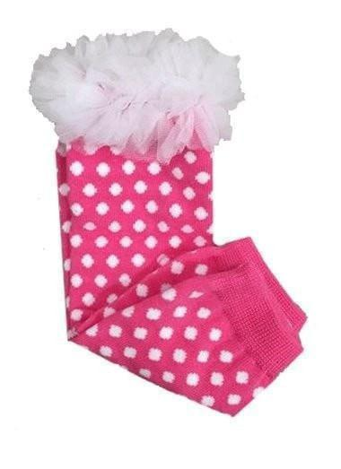 K&K Baby Pink Polka Dot with Ruffle Leg Warmers-K&K Baby-Sweet as Sugar Children's Boutique