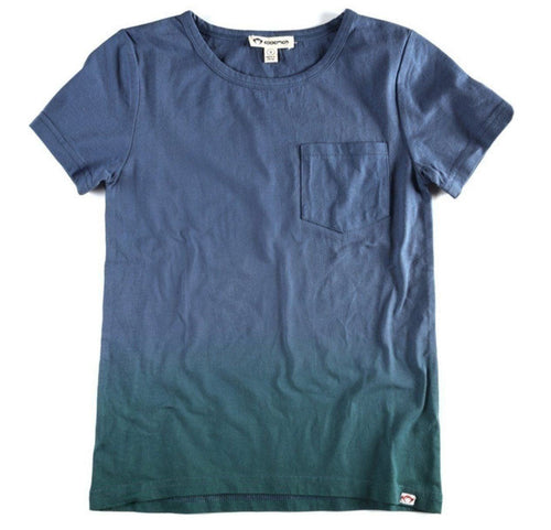 Outlet Appaman Boys Dip Dye Tee Dark Blue and Green-Appaman-Sweet as Sugar Children's Boutique