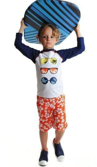 Outlet Appaman Orange Swim Trunks-Appaman-Sweet as Sugar Children's Boutique