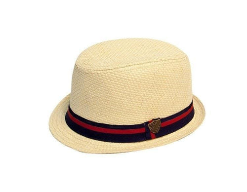 Outlet Fore!! Axel and Hudson Cream Paper Straw Fedora-Axel and Hudson-Sweet as Sugar Children's Boutique