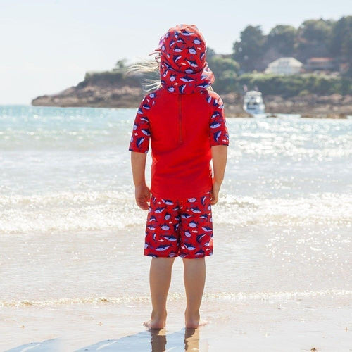 Outlet Jojo Maman Shark 2-Piece Sun Protection Suit-JoJo Maman Bebe-Sweet as Sugar Children's Boutique