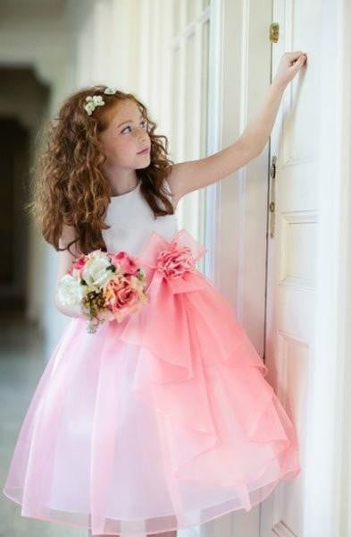 Outlet SAS Coral Cascading Organza Special Occasion Dress-Sweet as Sugar-Sweet as Sugar Children's Boutique
