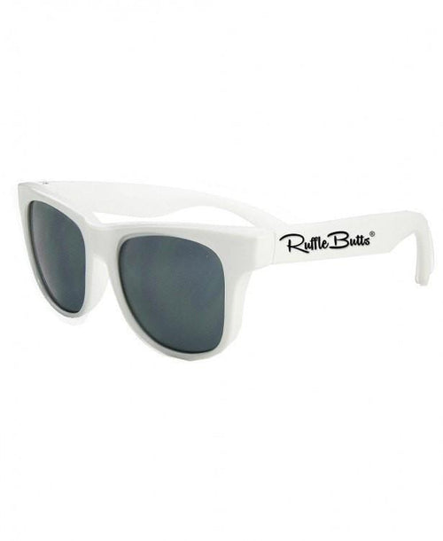 Rugged Butts White Wayfarer Sunglasses-Rugged Butts-Sweet as Sugar Children's Boutique