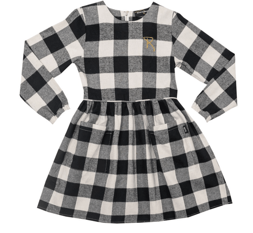 RYB Flannel Buffalo Dress-Rock Your Baby-Sweet as Sugar Children's Boutique