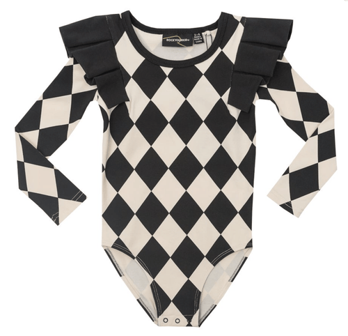RYB Harlequin Leotard-Rock Your Baby-Sweet as Sugar Children's Boutique