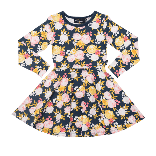 RYB Painted Garden Waisted Dress-Rock Your Baby-Sweet as Sugar Children's Boutique