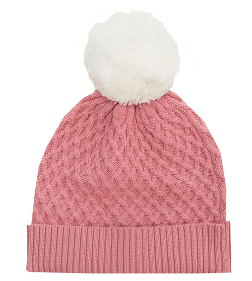 RYB Pink Pom Pom Beanie-Rock Your Baby-Sweet as Sugar Children's Boutique