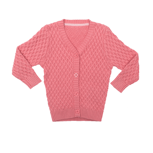 RYB Pink Vintage Cardigan-Rock Your Baby-Sweet as Sugar Children's Boutique