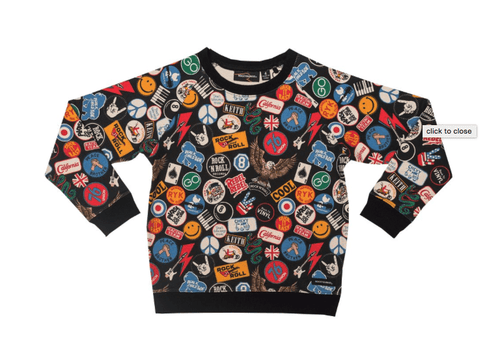 RYB Vintage Patches Shirt-Rock Your Baby-Sweet as Sugar Children's Boutique