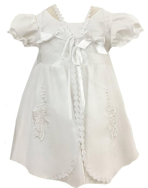 SAS Floral Christening Gown with Bonnet-Sweet as Sugar-Sweet as Sugar Children's Boutique