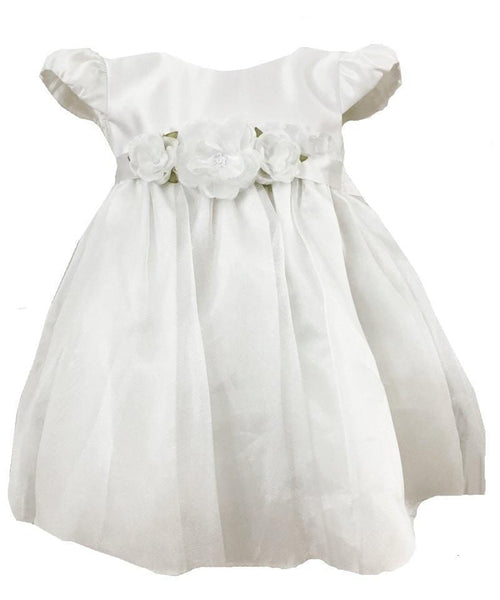 SAS White Baptismal Dress with Headband-Sweet as Sugar-Sweet as Sugar Children's Boutique