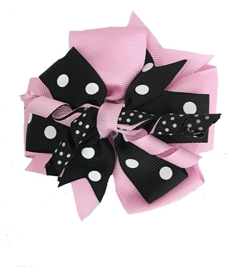 Sweet as Sugar Pink & Black Hair Clip-Sweet as Sugar-Sweet as Sugar Children's Boutique