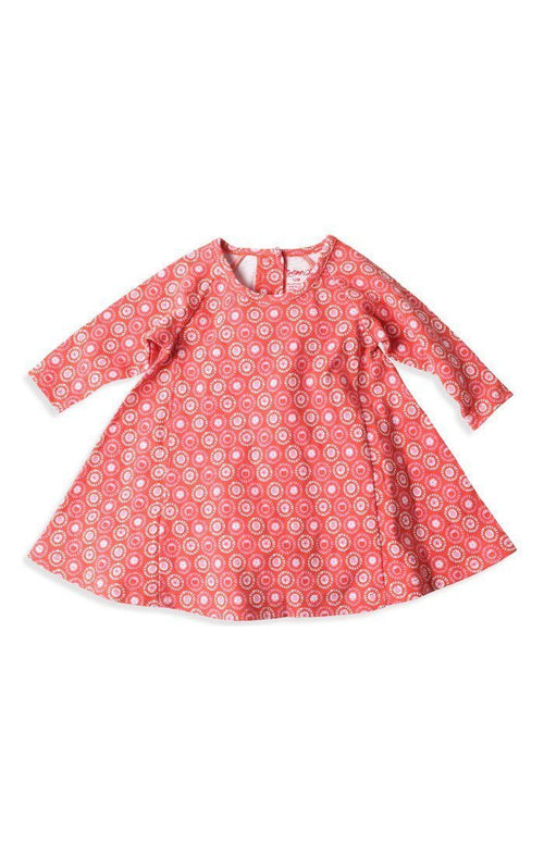 Zutano Apple Basket Raglan Trapeze Dress in Paprika-Zutano-Sweet as Sugar Children's Boutique