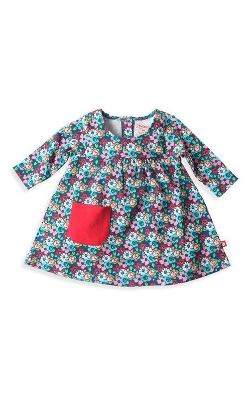Zutano Edelweiss Little Pocket Dress-Zutano-Sweet as Sugar Children's Boutique