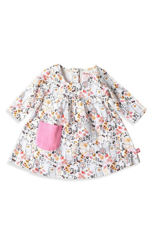 Zutano Folktale Little Pocket Dress in Cream-Zutano-Sweet as Sugar Children's Boutique