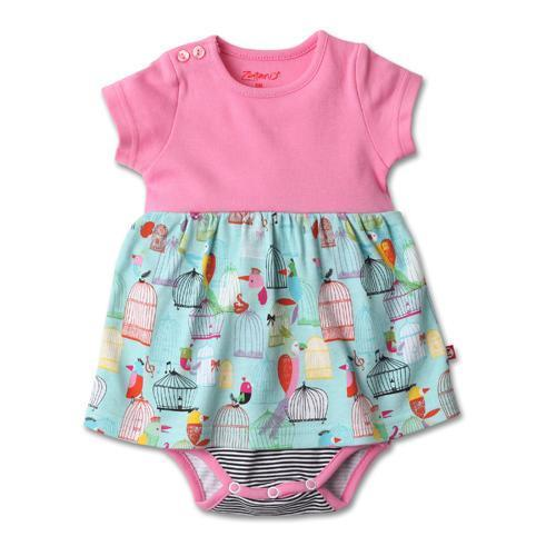 Zutano Paradise Bird Romper Dress in Multi-Zutano-Sweet as Sugar Children's Boutique