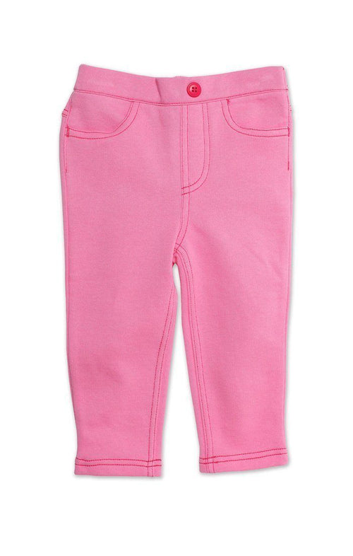 Zutano Terry Matchstick Jean in Hotpink-Zutano-Sweet as Sugar Children's Boutique