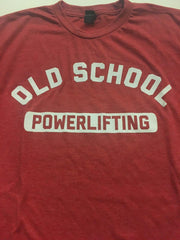 OLD SCHOOL GYM Powerlifting - Red