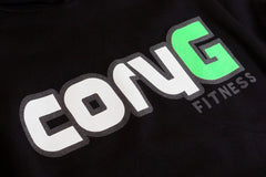 CoryG Fitness Hoodie Black Hooded Sweatshirt Graphic Detail