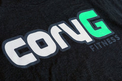 CoryG Fitness Tee Black T-Shirt Graphic Detail