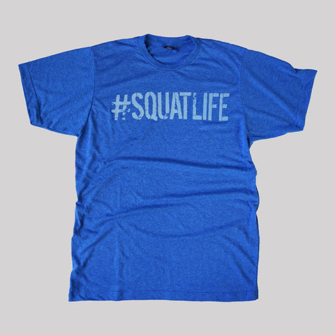 #SQUATLIFE All Blue Tee