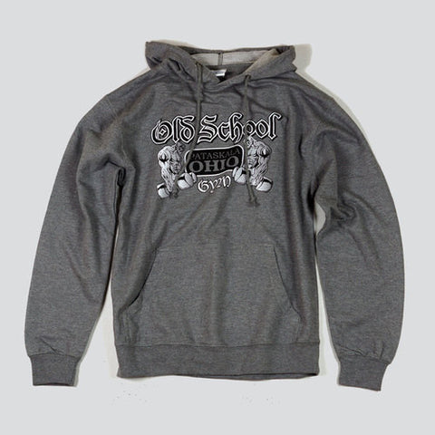 OSG Light Weight Hoodie Old School Gym Grey Sweatshirt