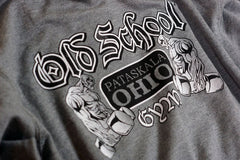 OSG Light Weight Hoodie Old School Gym Grey Sweatshirt Graphic Detail
