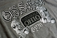 Famous OSG Old School Gym Grey T-Shirt Graphic Detail