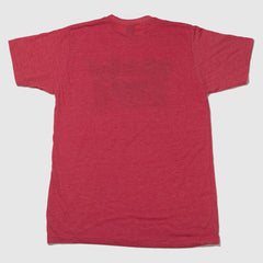 Famous Old School Gym Red T-Shirt Back