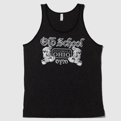 Old School Gym Black Tank Front
