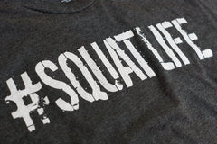 #SQUATLIFE T-Shirt Charcoal Graphic Detail