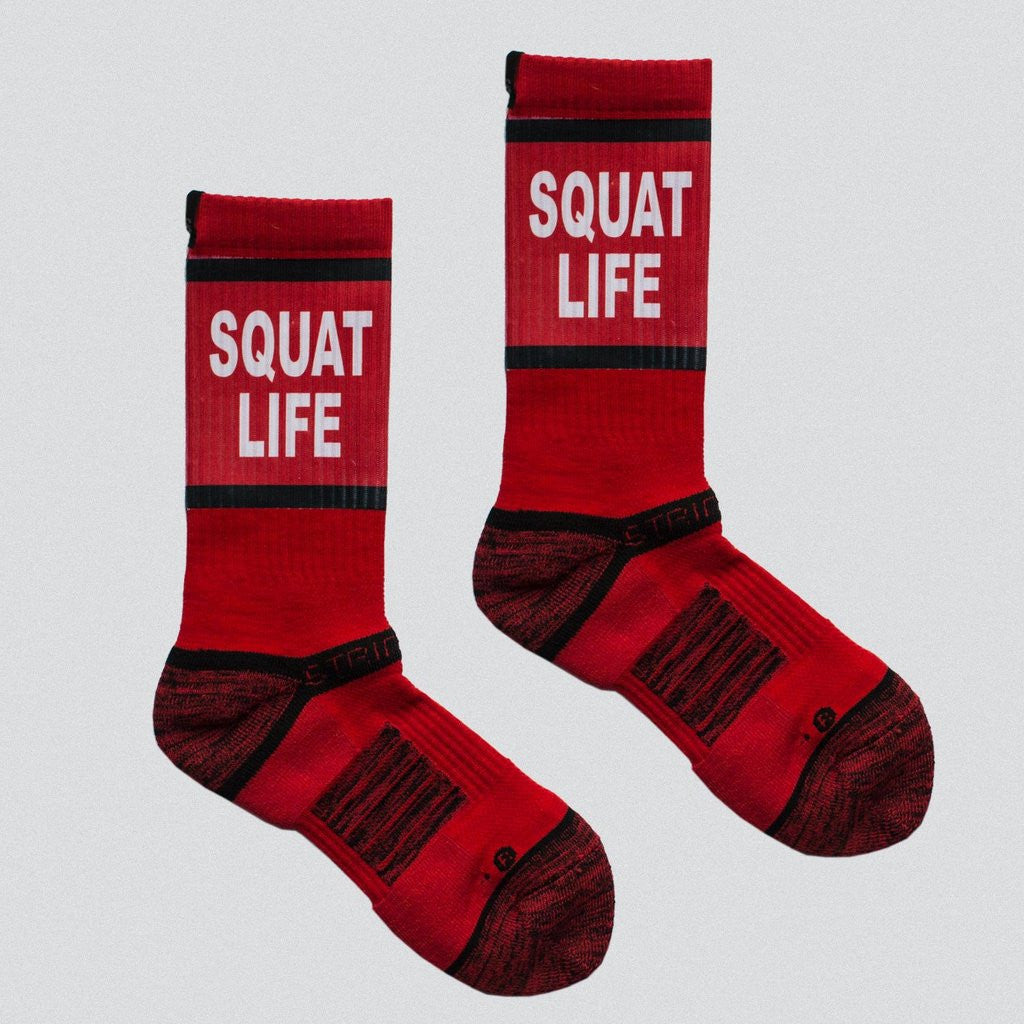 #SQUATLIFE SOCKS - Red