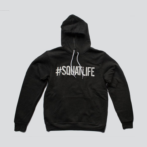 #SQUATLIFE PULLOVER HOODIE - Charcoal