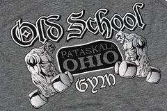 OSG Tank Old School Gym Grey Tank Top Graphic Detail