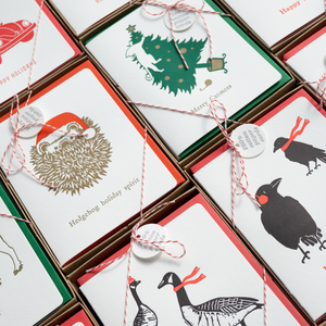 Holiday stationery cards and boxed sets and tags