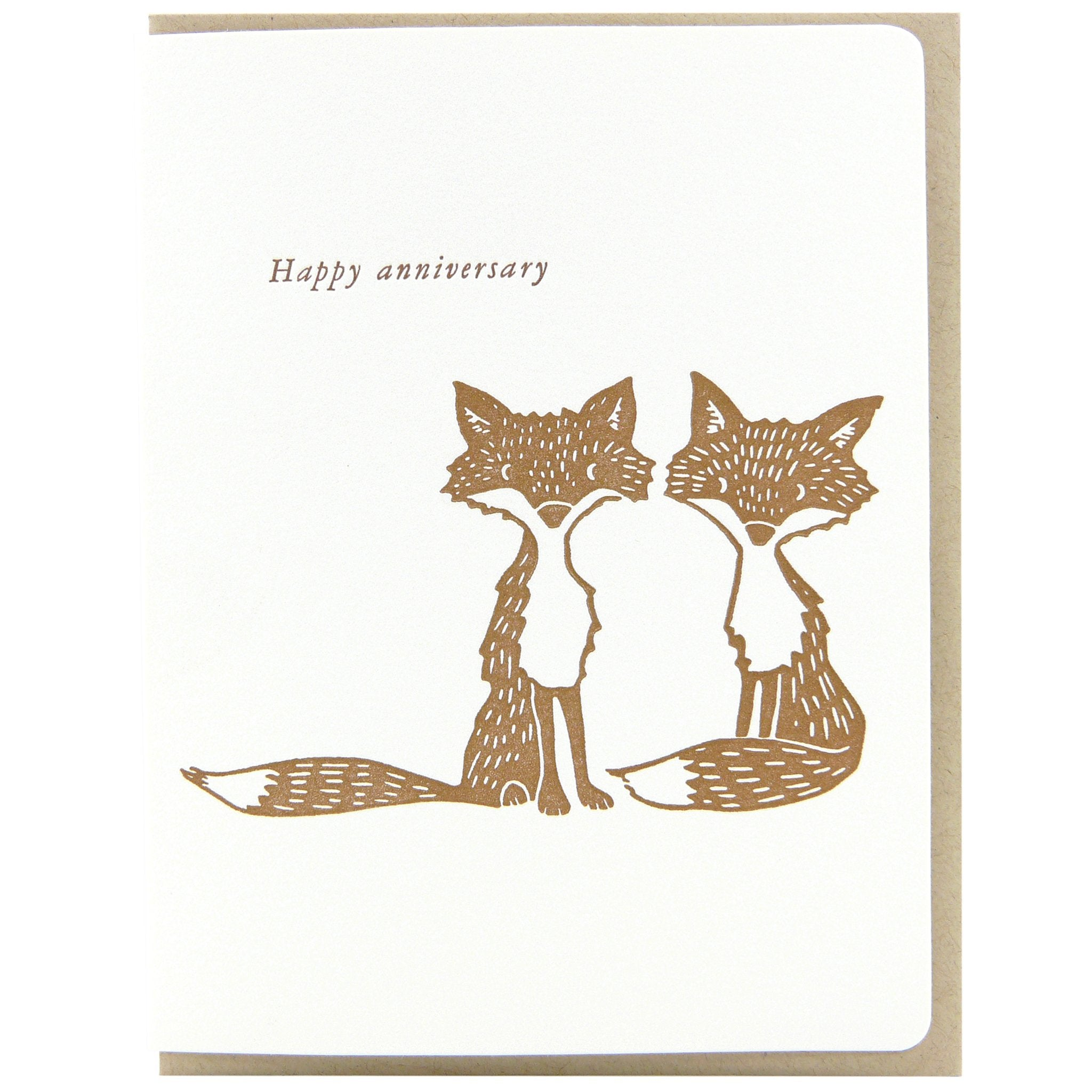 Anniversary Foxes