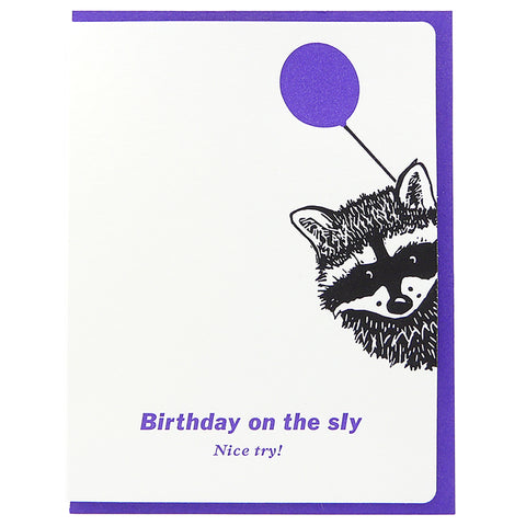 Birthday Raccoon On The Sly
