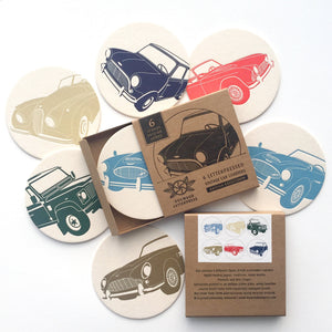 British Vintage Car Coasters