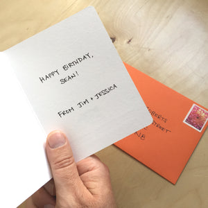 Personalized Handwritten Card