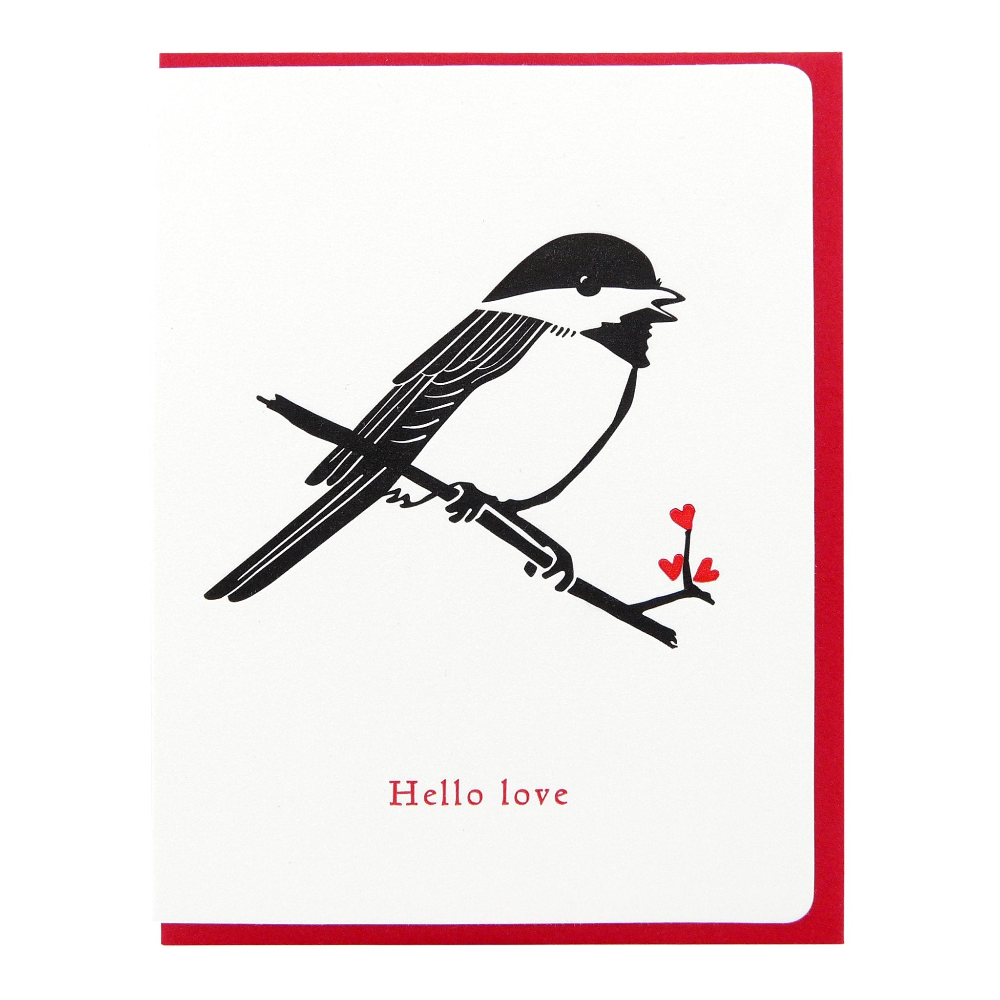 Chickadee hello love