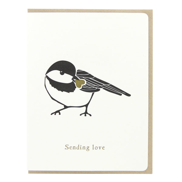 Chickadee Sending Love