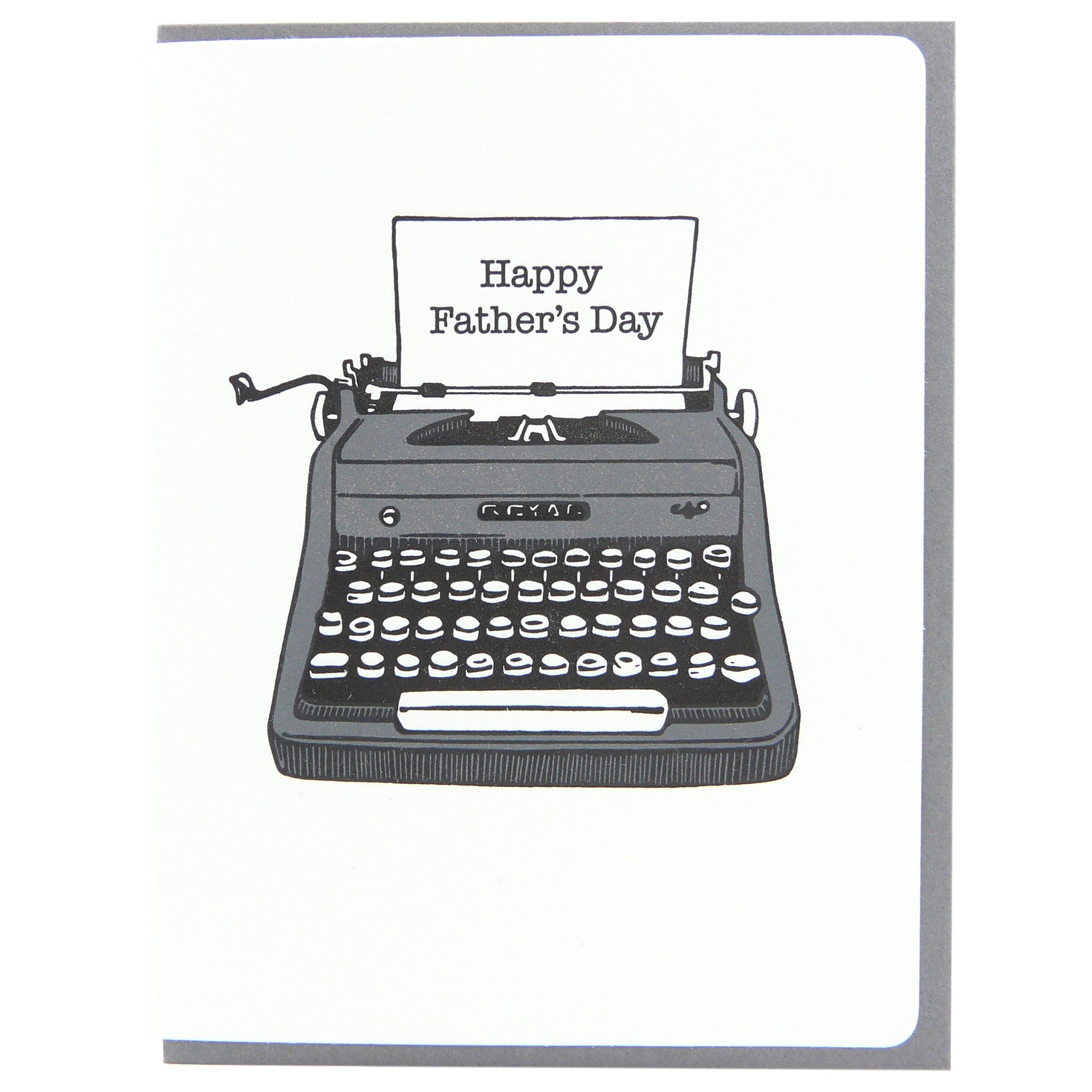 Father's Day typewriter