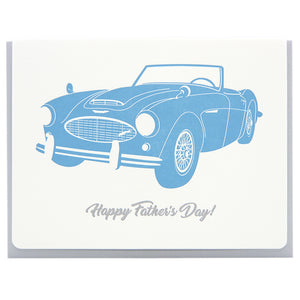 Happy Father's Day Austin Healey letterpress card